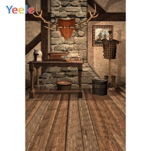 Yeele Merry Christmas Photography Backdrop Wood Floor Brick Wall Indoor Custom Photographic Background For Photo Studio Props цена в Москве и Питере