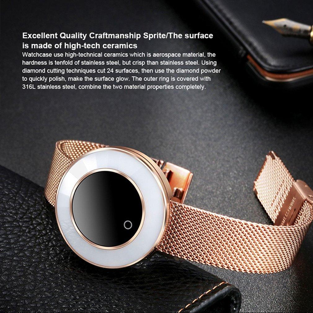 X6 Smart montres Femmes de Fréquence Cardiaque Podomètre Or Bande Étanche Smart Bracelet reloj inteligente mujer Bluetooth Notification