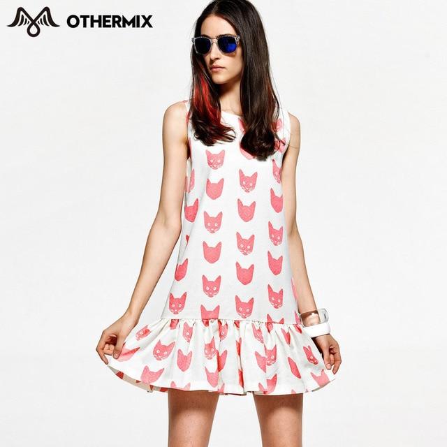 Othermix 2016 Women Style High Street Latest Dress Design Clothing Print  Dress