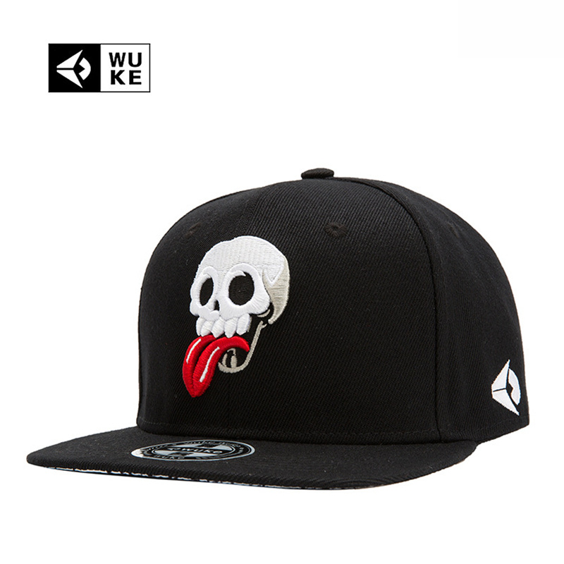 WUKE Brand New Hip Hop Snapback Cap Hats Skull Adjustable Baseball Cap For Men Women casquette gorras planas bone aba reta toca