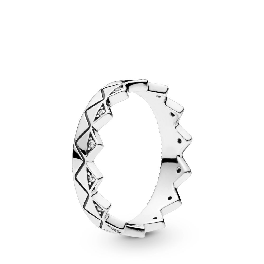 Women Silve Finger Rings Charms Diy Exotic Crown White Crystal Blue Epoxy Combination Ring For Women Wedding Party Gift Jewelry in Rings from Jewelry Accessories
