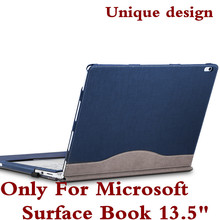 "Detachable Cover For Microsoft Surface Book 13.5""  Tablet Laptop Sleeve Case PU Leather Protective Skin Keyboard Cover As Gift"