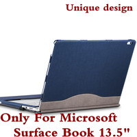For Microsoft Surface Book 13 5 Tablet Laptop Sleeve Case PU Leather Protective Skin Detachable Cover