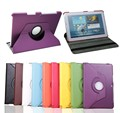 Free Shipping 360 Degree Rotating PU Leather Case Cover For Samsung Galaxy Tab 2 10.1 For P5100 P5110 P7500 P7510 + film