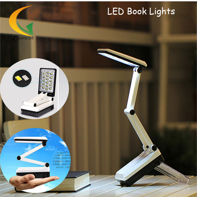 LED Folding Desk Lamp black Reading book reading light Rechargeable Folding Eyes Protecting LED Table Light lamps