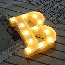 7c4440d0aea36 26 Inglês Alfabeto Número Carta luminosa Noite Levou Luz Criativa Led Da  Bateria Da Lâmpada Romântico