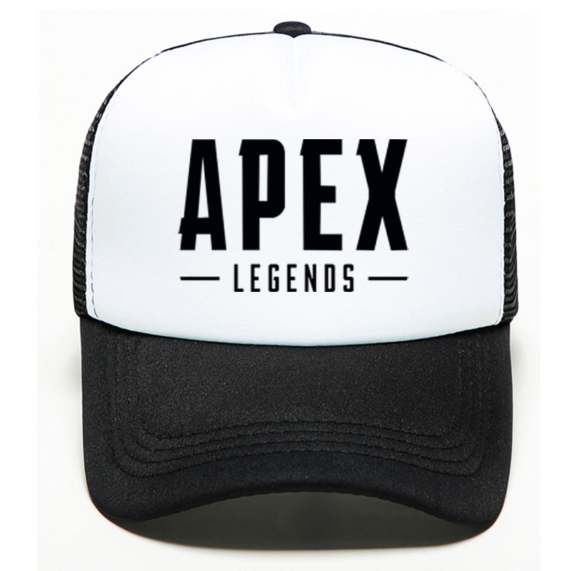 100pcs/lot Baseball Cap Game Print Black Cotton High Quality Cool Adjustable Hat Unisex Hip hop Caps Apex Legends 1