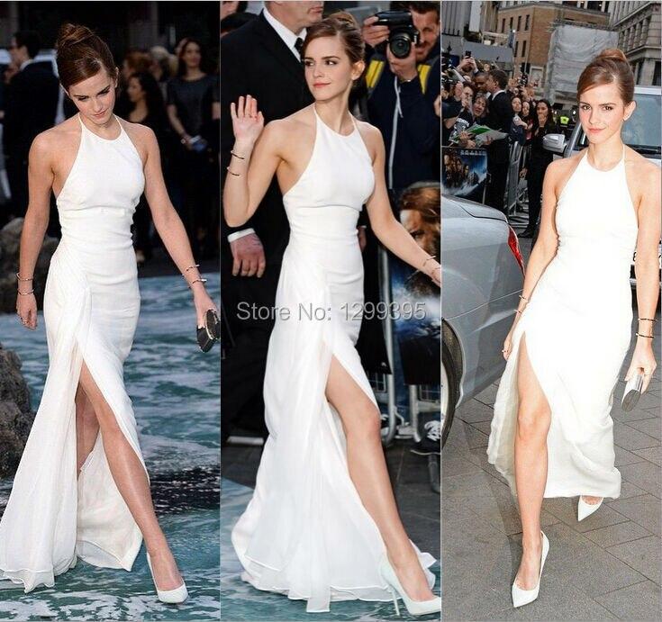 Emma Watson Vestido de Noche Formal Del Nuevo de La Celebridad de Encargo  de marfil Raja