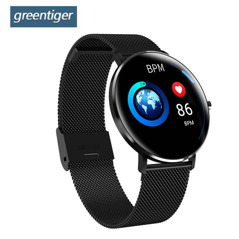 Greentiger L6 Smart Watch Men IP68 Waterproof Multiple Sports Mode Heart Rate Bluetooth Smartwatch Android IOS