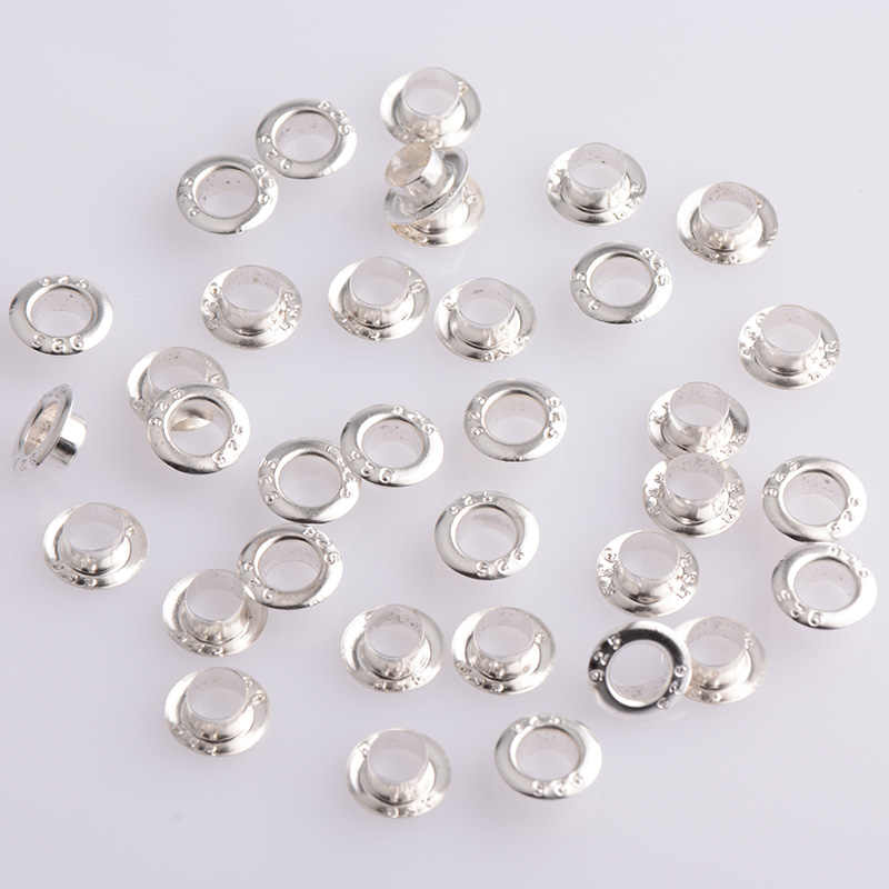 500pcs 925 Stamped Silver Plated Beads Grommet Fit European charm Glass Beads..
