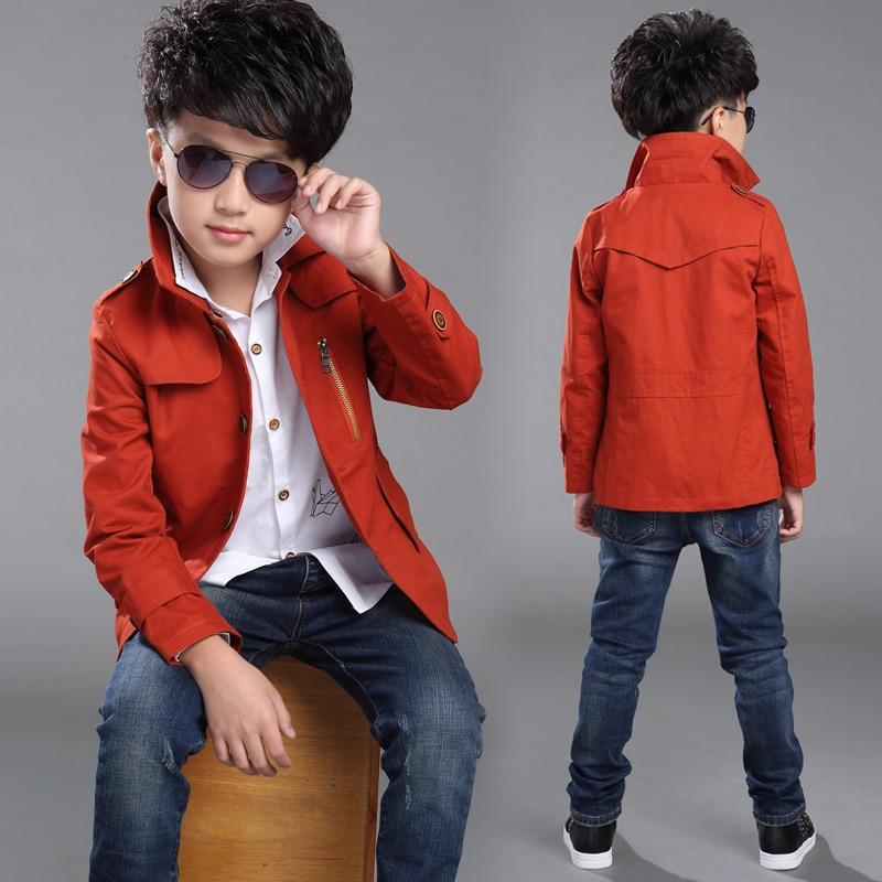 Aliexpress.com : Buy Boys clothing teen boys trench coat spring ...