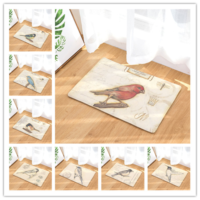 Us 5 52 35 Off 40x60cm 50x80cm Bird Erfly Print Carpets Non Slip Kitchen Rugs For Home Living Room Floor Mats In Mat From Garden On