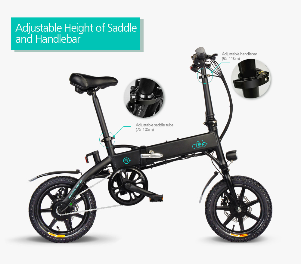 Foldable D1 Folding Electric Bicycle 250W...
