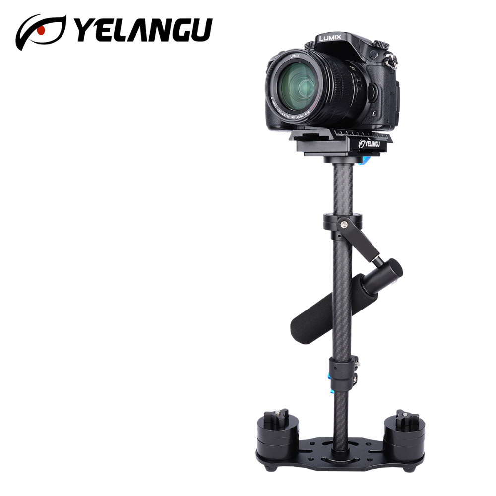 YELANGU Handheld 40CM Carbon Fiber Video Camera Stabilizer Steadicam Steadycam S40T for Canon Nikon GoPro AEE DSLR Video Camera vintage genuine leather cowhide men women short mini small wallet wallets coin purse pocket zipper card holder man women s purse