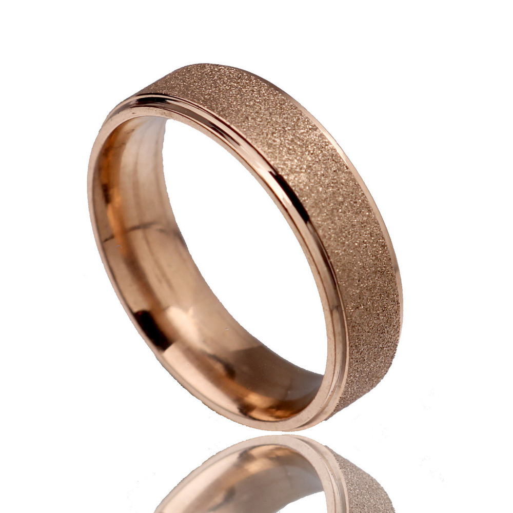 Cut Rate 316 Stainless Steel Couple Rings Vintage Titanium Dull