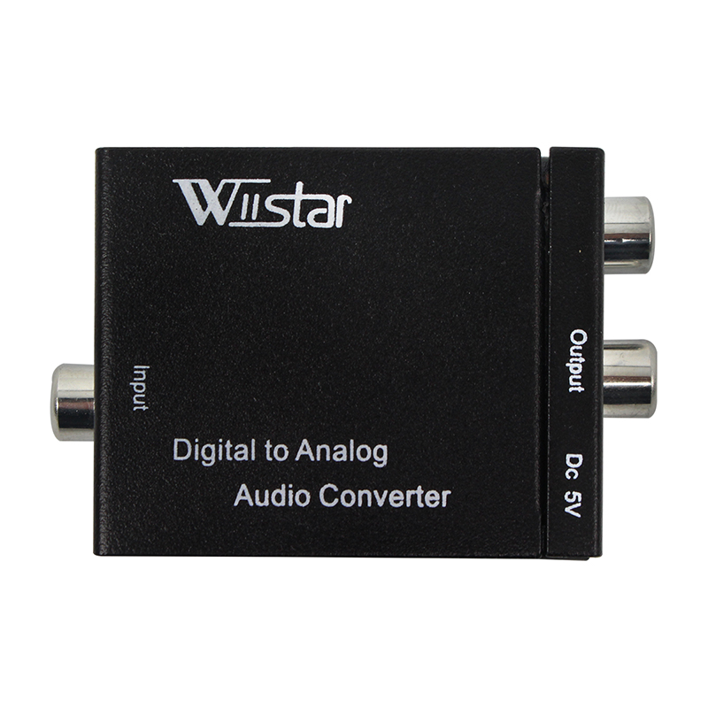 Digital to Analog Audio Converter Adapter Digital Optical Fiber Coaxial RCA Toslink Signal to Analog Audio Converter RCA for DVD digital optical coaxial toslink to analog rca l r audio digital converter adapter dc 5v 1a with usb cable high speed