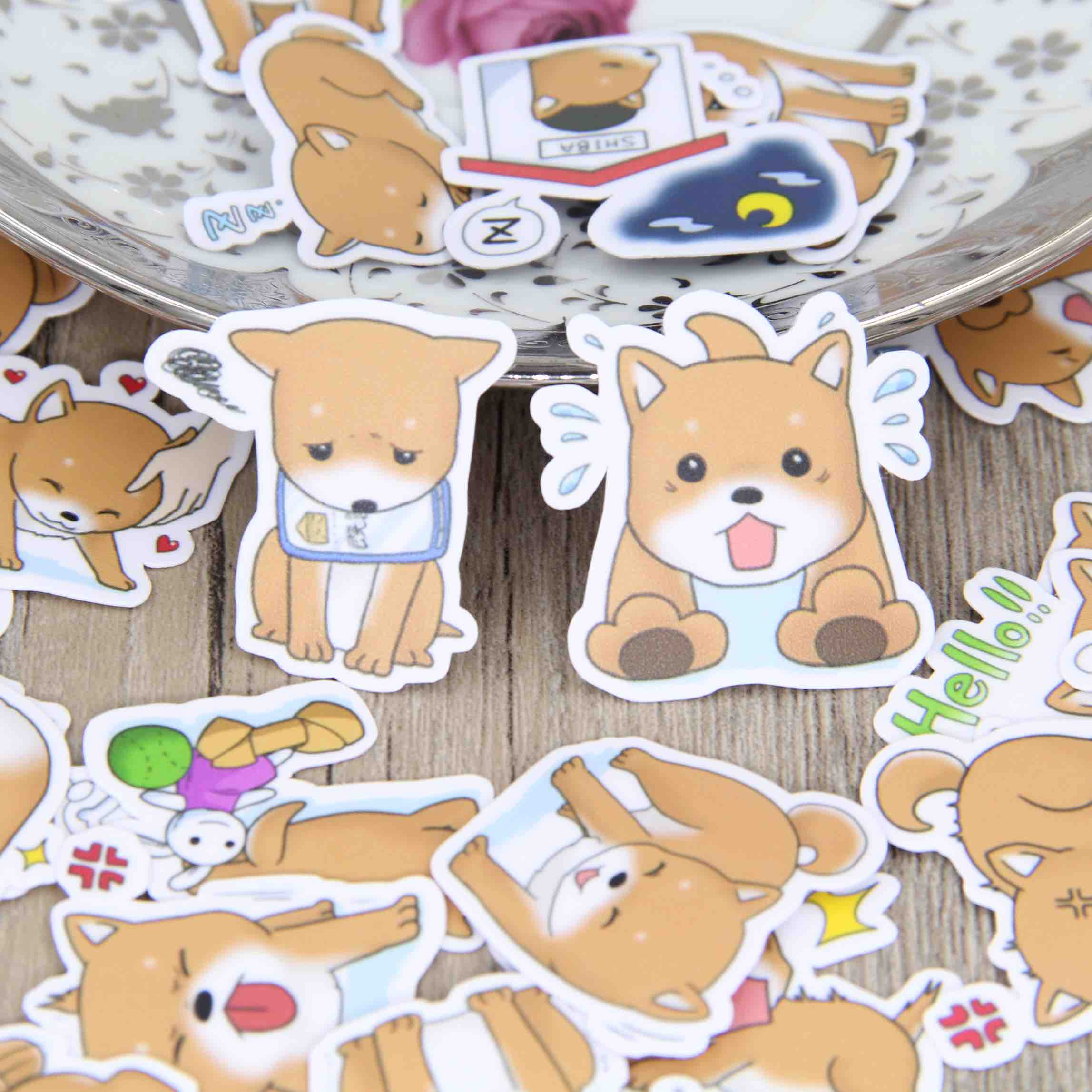 40pcs Self-made Cute Puppy Dog Animal Dogs Scrapbooking Stickers Decorative Sticker DIY Craft Photo Albums Decals Diary Deco japan imports midori planner calendar decorative stickers cute animal 5pcs