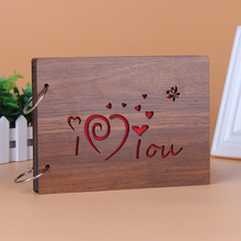 1pcs YT75 30 pages Personalized Photo Album wooden gifts loose leaf photo album custom gifts 8