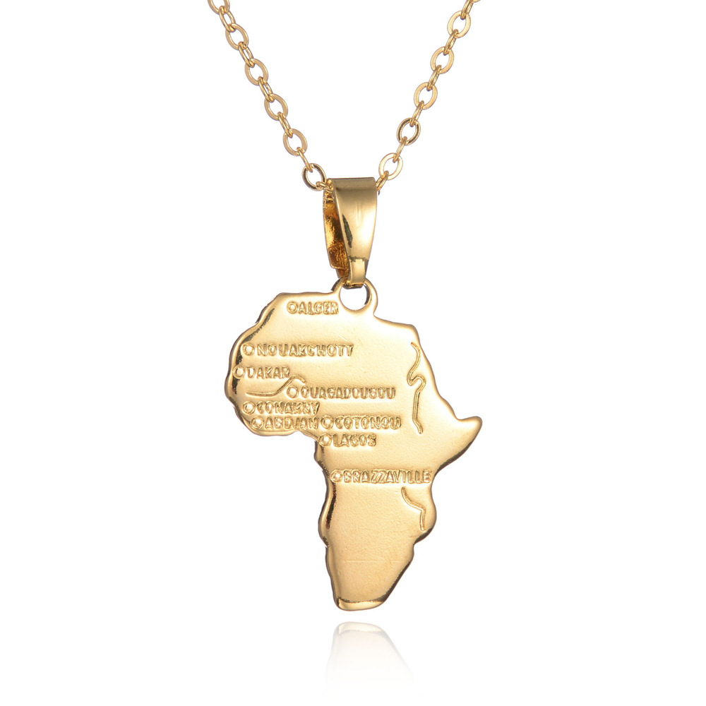 Color online world map - New Vintage Usa France Africa Spain Map Men Jewelry Steampunk Gold Color World Map Pendant Necklace