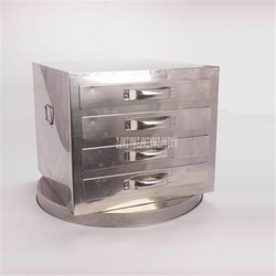Commercial 201 Stainless Steel 40*35cm 4 Drawer Steamed Plates Steamed Vermicelli Roll Cabinet Rice Noodles Roll Making Machine