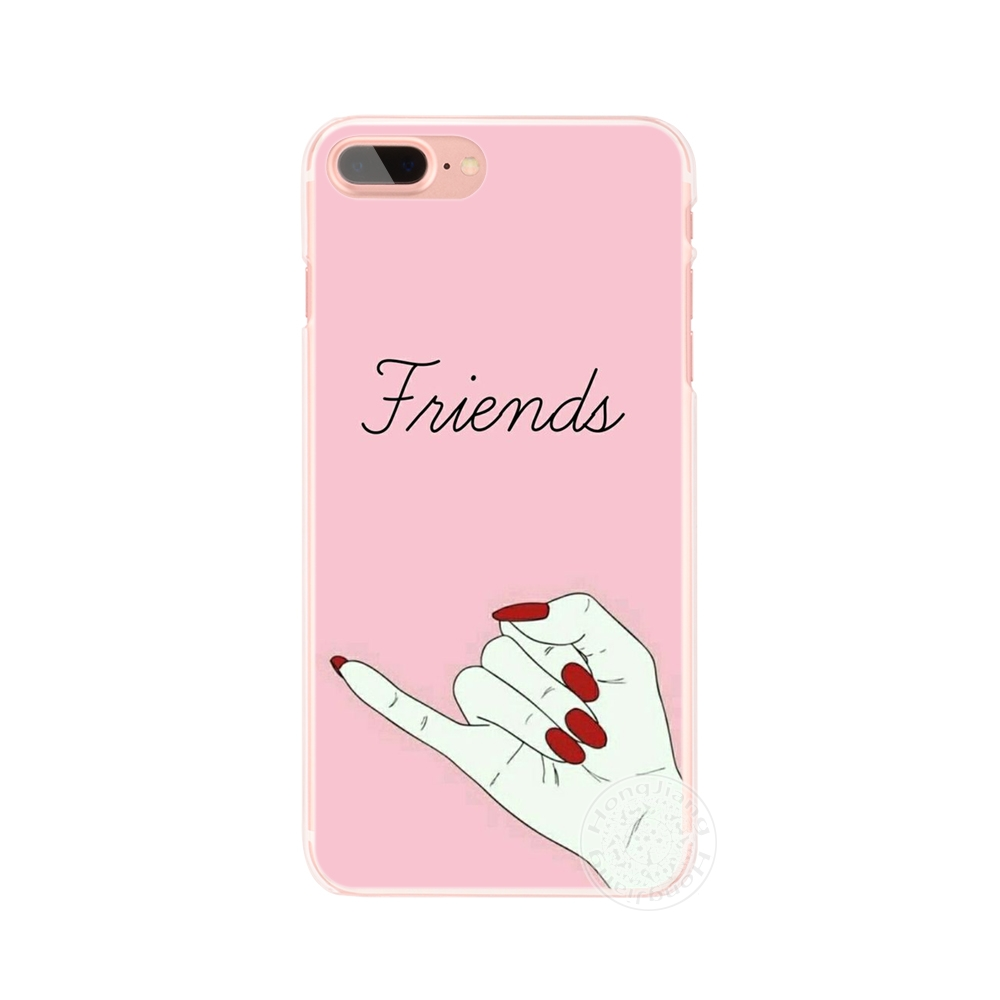 Best Friend Forever Lovers Couple Cell Phone Cover Iphone 4 4S 5 5S SE 5C 6 6S 7 8 X Plus