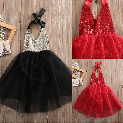 Kids Girl Baby Flower Sequins Party Occasion Prom Wedding Communion Formal Skirt Girls Summer Skirt
