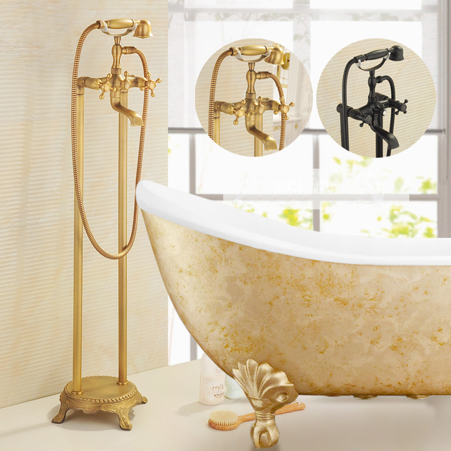 Shower Faucets Luxury Floor Stand Bathtub Faucet Free Standing ...