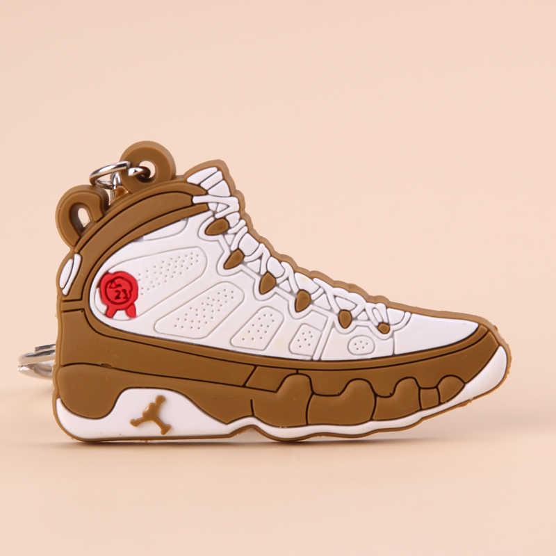 新ミニジョーダン 9 キーホルダー靴男性ウォメ子供キーリングギフトバスケットボールスニーカーキーチェーンキーホルダーポルトクレフ