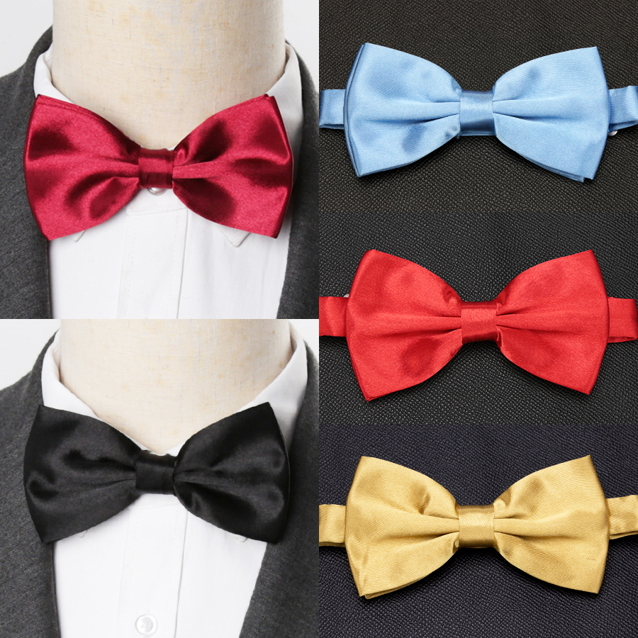 Mens Bow Tie Fashion Wedding Party Ties For Men Women Solid Butterfly Necktie Cravat Male Dress Shirt Gift Accessories Bowtie