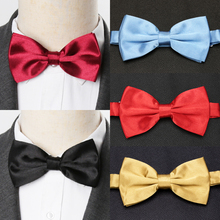 все цены на Mens Bow Tie Fashion Wedding Party Ties for Men Women Solid Butterfly Necktie Cravat Male Dress Shirt Gift Accessories Bowtie