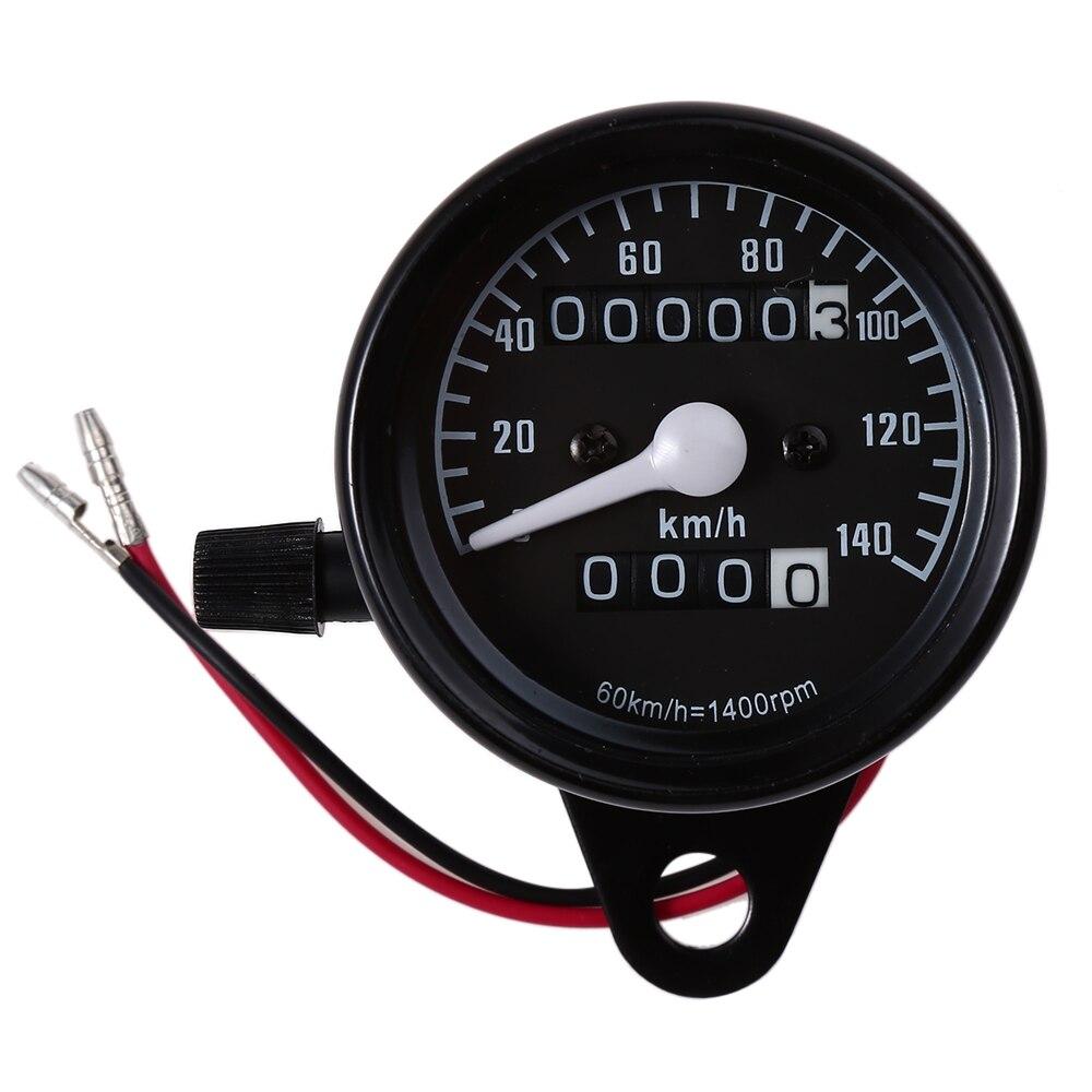 Hot Sale Universal B732 Motorcycle Dual Odometer Speedometer Gauge Speed Meter Dual Color LED light high quality Black
