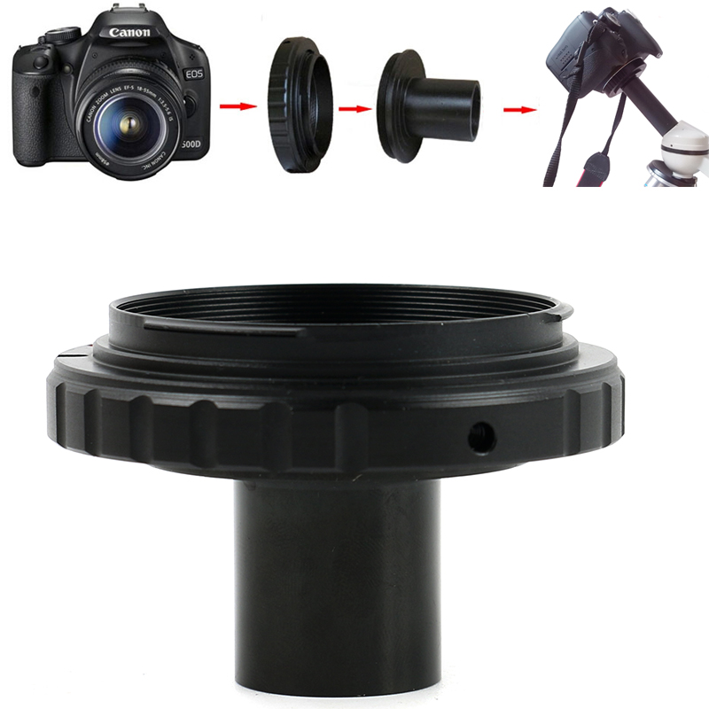 T2 Mount Camera Adapter EOS SLR Camera 23.2mm Eyepiece Ports Microscope Adapter For 23.2mm Interface Biological Microscope
