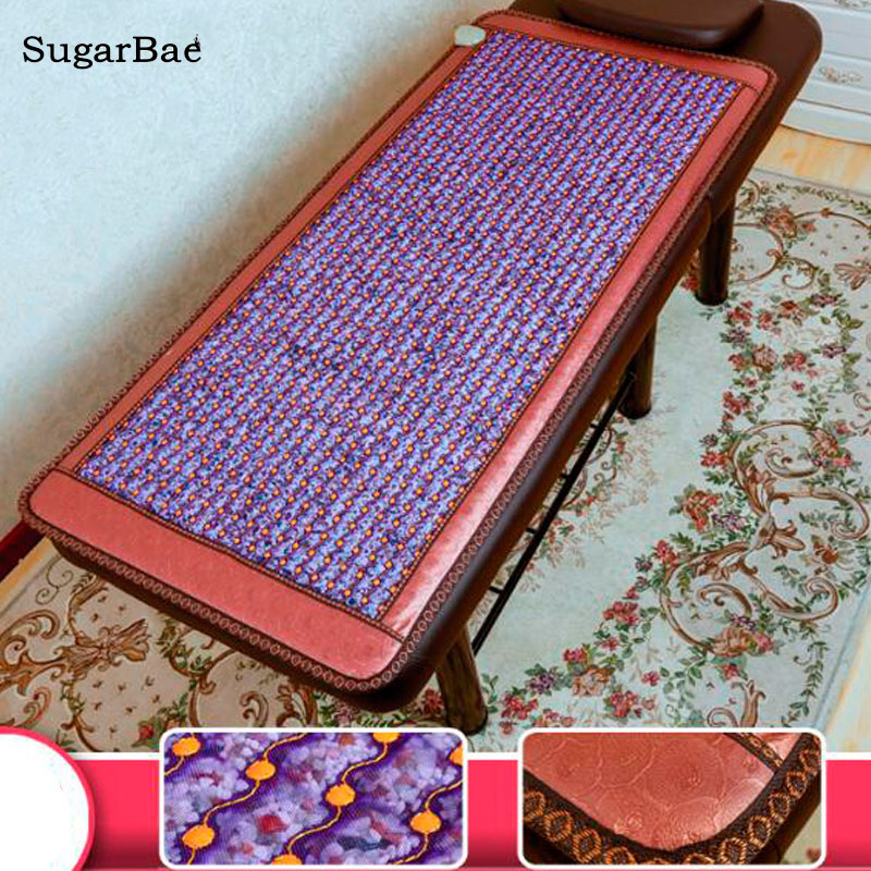 Healthcare Korea Crystal Jade Beauty Mat Germanium Tourmaline Jade Mattress Electric Heating Therapy Massage Pad Free Shipping 2016 free shipping healthcare jade heating pad jade mattress tourmaline heated mattress pad 1 2 1 9m
