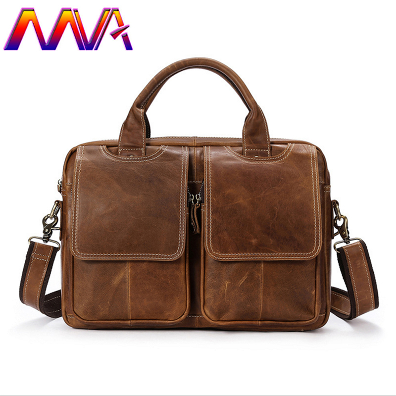 MVA Top quality genuine leather men briefcase with cheap price leather men shoulder bag of solid bag men laptop crossbody bags mva genuine leather mens shoulder bag with solid soft men messenger bags of zipper men handbag men crossbody bags men bag
