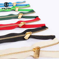 High Quality 2set*25cm YKK Zipper with Excella Zipper Puller Leathercraft #3/#5 Metal Zipper Copper Teeth DIY Bag Purse Hardware