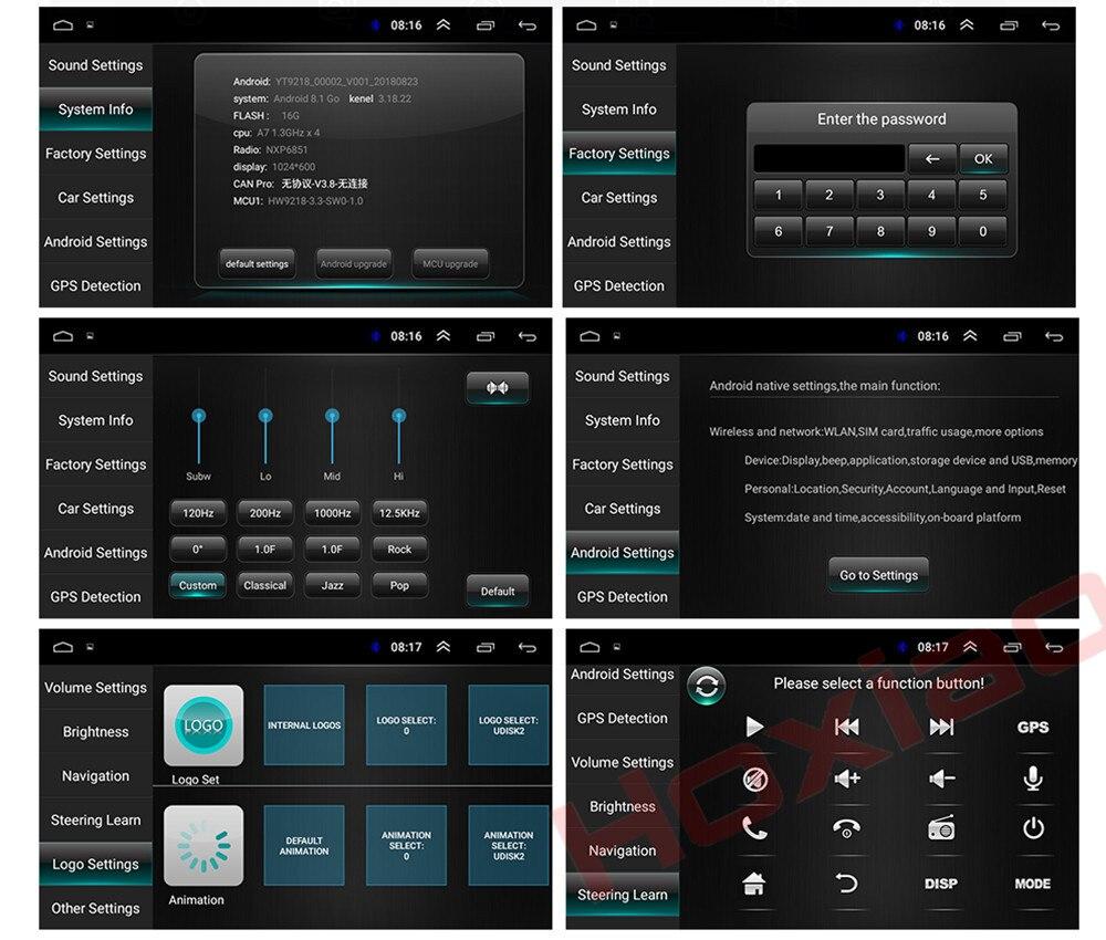 Android 8 1 Car Radio for TOYOTA COROLLA Camry Land Cruiser HILUX PRADO  RAV4 Quad Core wifi Bluetooth video audio Multimedia