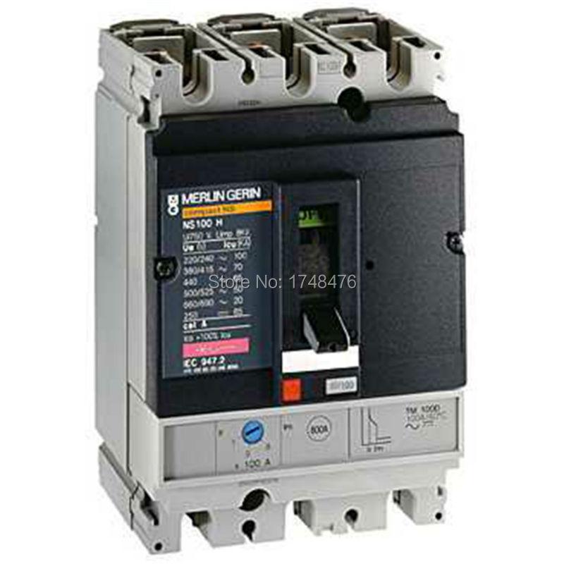 ФОТО NEW 29671 circuit breaker Compact NS100H - TMD - 80 A- 3 poles 3d