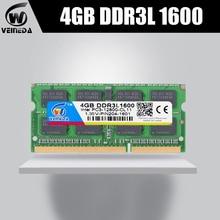 VEINEDA оперативной памяти ddr3l 4 Гб ddr3L 1066 МГц для всех Intel AMD ноутбук 4 Гб ddr3L sodimm 1333 МГц 1600 PC3L-12800 204pin NO-ECC