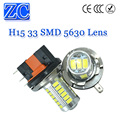 2X H15 33 SMD 5630 LED Lens Super bright  White DC 12V Daytime Running Light DRL Bulb Fog Light Lamp Headlight Low Beam