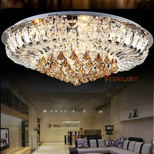 Swan Shape Crystal Ceiling Chandeliers for Living Room Bedroom Modern Stained Glass LED Lamps with Remote Control