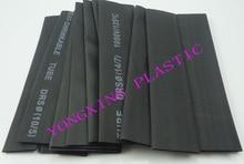 15pcs/lot Assorted 2:1 Heat Shrink Tubing insulating bush Wrap Sleeve Kit 15pcs black color 3 Sizes