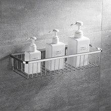 الحائط سلة حمام 304 الفولاذ المقاوم للصدأ دش العلبة تخزين الرف ل صابون شامبو حامل etagere tipi ريبيسا