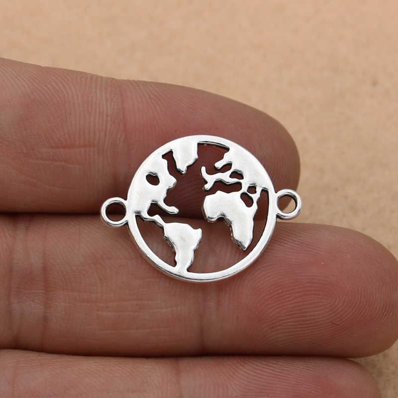 10pcs ผสมโบราณแผนที่หัวใจสำหรับเครื่องประดับทำสร้อยข้อมือ DIY handmade Findings 10 รูปแบบ