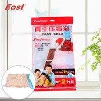 EAST Vacuum Storage Bag Vacuum Compressed Space Bag Seal Space Saver Compression Organizer With 2 Pcs