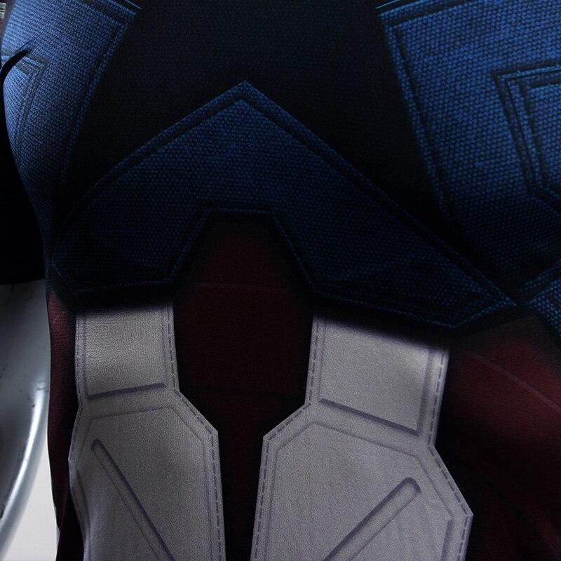 89c944537fc82 Captain America Avengers Infinity War Suit Regular Short Sleeve Compression  Training T-shirt