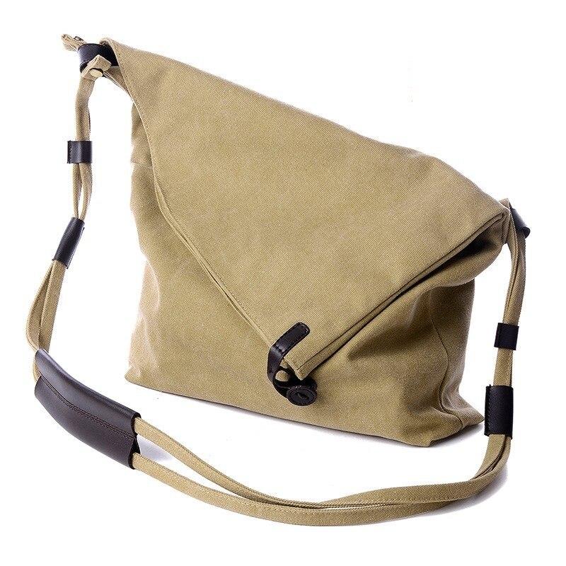 Canvas Bucket Bag High Messenger Crossbody Shoulder Shopping Beach Bag Bolso Hombre