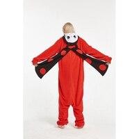 Marienkäfer Tier Pyjama Onesie Hoodie Für Erwachsene Frauen Männer Pyjama Pijama Halloween Nachtwäsche Fleece Full Länge