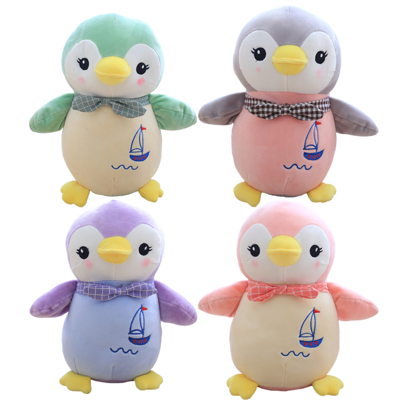 1pc 30cm Cute Penguin Plush Toy Staffed Animal Dolls Kawaii Kids Toy Childrens Gift Home Decoration Lovely Valentine Gift