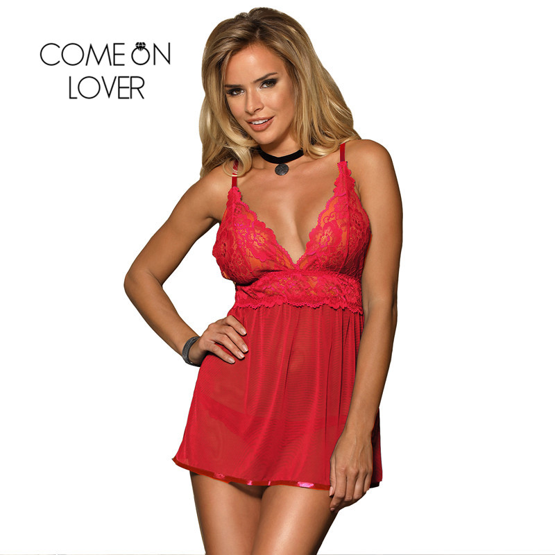Comeonlover Ropa Sexy Para El Sexo Backless Fly-away Sex Clothes For Women Babydoll Dress Hot Lenceria Erotica Lingerie RI80641 1