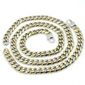 In Silver & Goldplated Stainelss Steel Polishing High Quality Men Necklace Bracelet Sets Trendy Chain Jewelry Set For Man VJS112